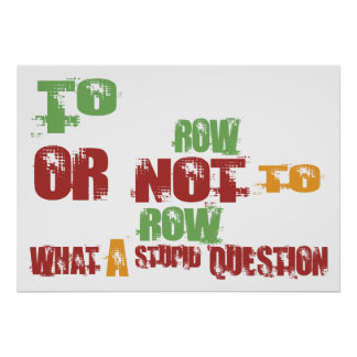 To Row Poster