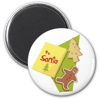 To Santa Fridge Magnets