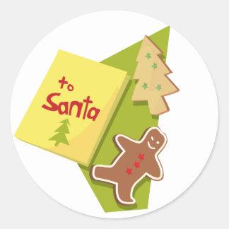 To Santa Classic Round Sticker