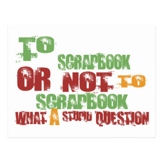 To Scrapbook Postcard