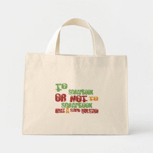 To Scrapbook Tote Bags