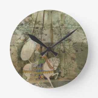 To see a fine lady upon a white horse round clocks