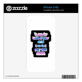 To see the birth of your child is to feel... iPhone 4 decal