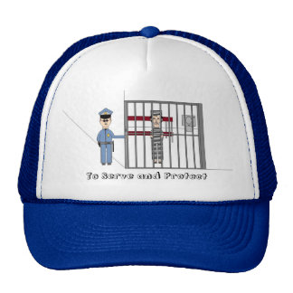 To Serve and Protect baseball hat, cap Trucker Hat