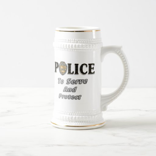 To Serve and Protect Beer Stein
