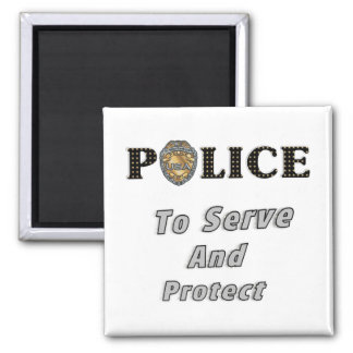 To Serve and Protect Refrigerator Magnets