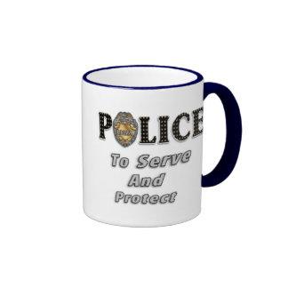To Serve and Protect Ringer Coffee Mug
