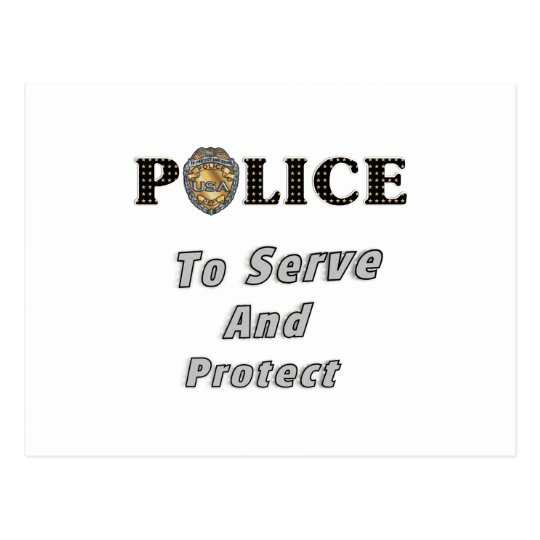 To Serve and Protect Postcard