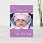 To Son-in-Law on 1st Father's Day - photo Card