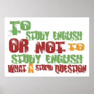 To Study English Poster