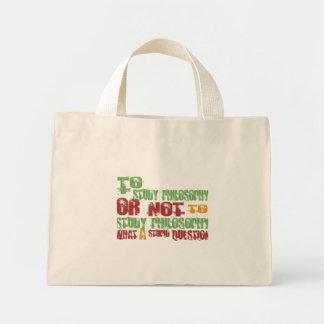 To Study Philosophy Mini Tote Bag