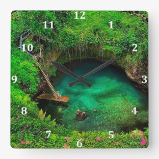 To Sua Ocean Trench.jpg Square Wall Clock