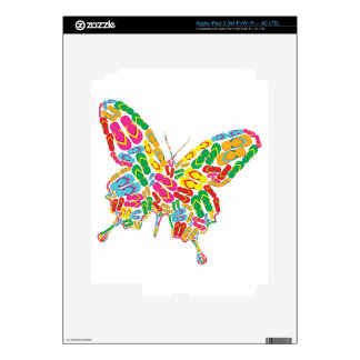 to summer flipflop butterfly iPad 3 skins