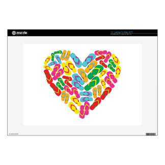 "to summer flipflop heart 15"" laptop skins"