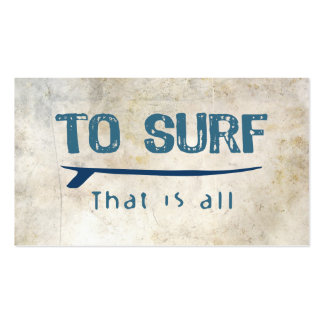 To Surf Business Card