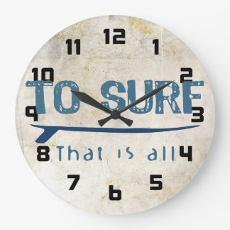 To Surf Large Clock