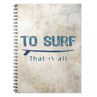 To Surf Notebook