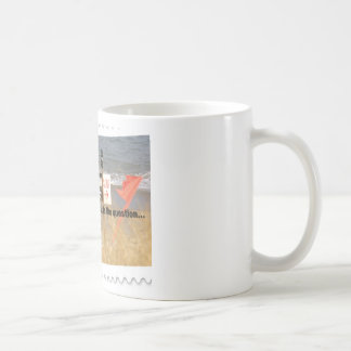 To surf or to swim - that is the question classic white coffee mug