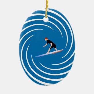 To surf - Surfer (01) Ceramic Ornament