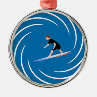 To surf - Surfer (01) Metal Ornament