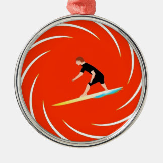 To surf - Surfer (02) Metal Ornament