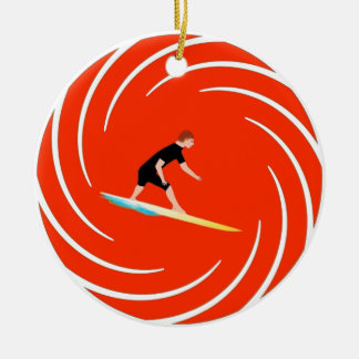 To surf - Surfer (03) Ceramic Ornament