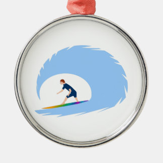 To surf - Surfer (04) Metal Ornament