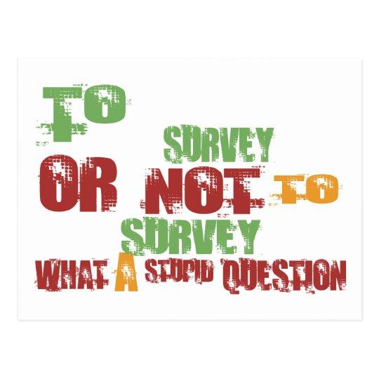 To Survey Postcard