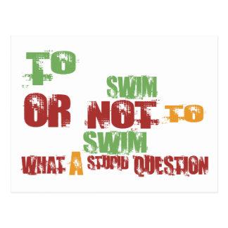 To Swim Post Card