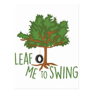 To Swing Postcard