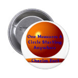 TO TAKE THE MEASURE OF A CIRCLE PINBACK BUTTONS