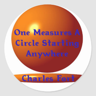 TO TAKE THE MEASURE OF A CIRCLE CLASSIC ROUND STICKER