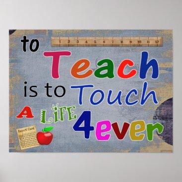 Beach Themed To Teach -- Art Print -- teachcer appreciation