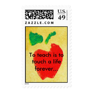 To Teach Is To Touch ALife Forever Postage Stamp
