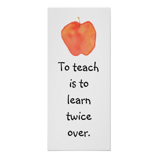 To teach... poster