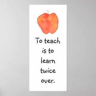 To teach... print
