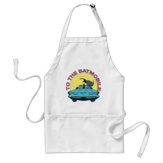 To The Batmobile - Distressed Icon Aprons
