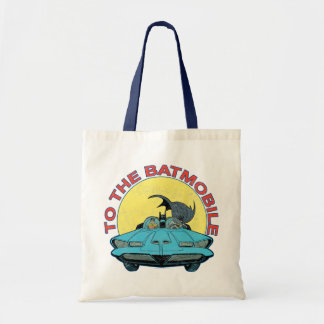 To The Batmobile - Distressed Icon Tote Bags