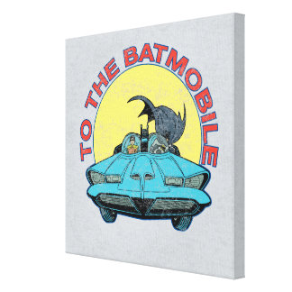 To The Batmobile - Distressed Icon Canvas Print