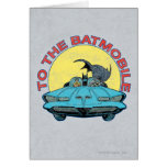 To The Batmobile - Distressed Icon Card