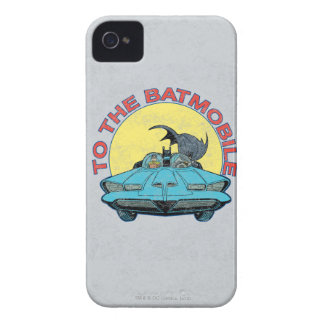 To The Batmobile - Distressed Icon Case-Mate iPhone 4 Case