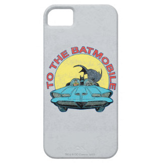 To The Batmobile - Distressed Icon iPhone SE/5/5s Case