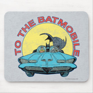 To The Batmobile - Distressed Icon Mouse Pad