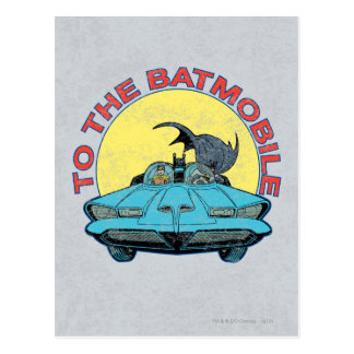 To The Batmobile - Distressed Icon Postcards