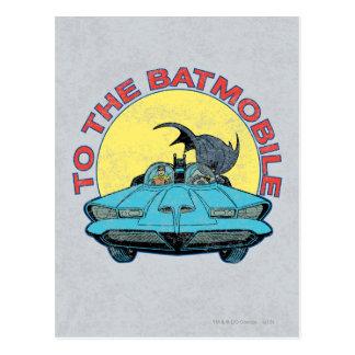 To The Batmobile - Distressed Icon Postcard