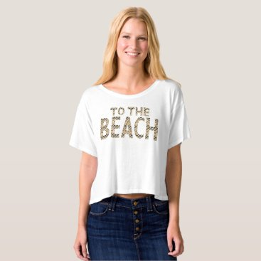 Beach Themed To The Beach Boxy Crop Top