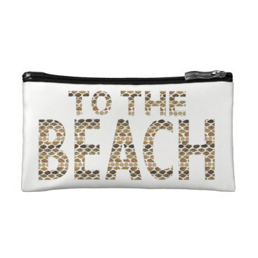 Beach Themed To The Beach Cosmetic Bag