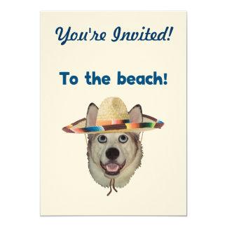 To The Beach Dog Card