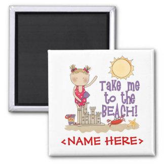 To the Beach (Girl) Fridge Magnets