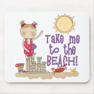 To the Beach (Girl) Mousepads